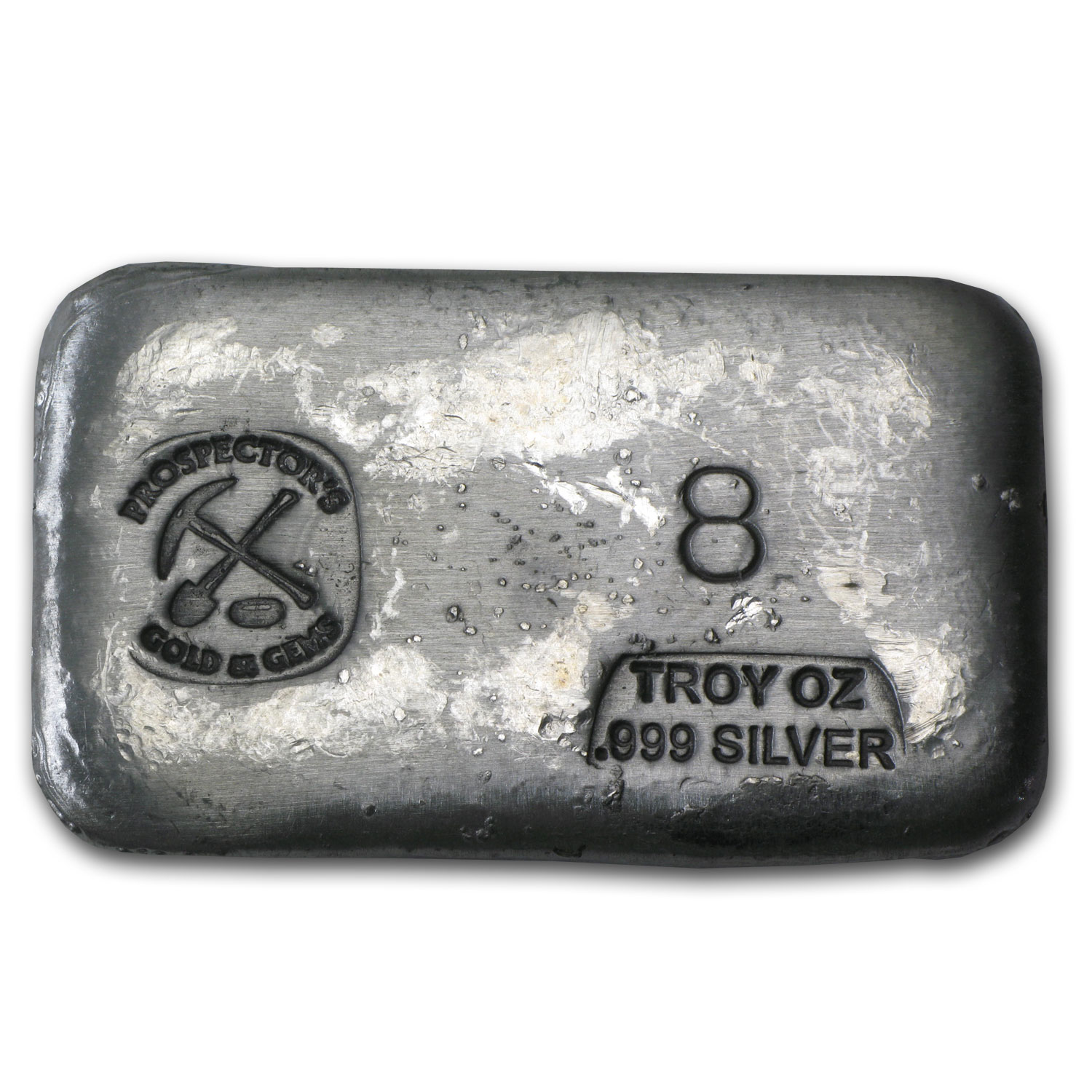 8 oz Silver Bar - Prospector's Gold & Gems
